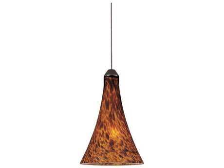 ET2 Leopard Bronze & Amber Glass 5'' Wide Rapid Jack Mini-Pendant Light