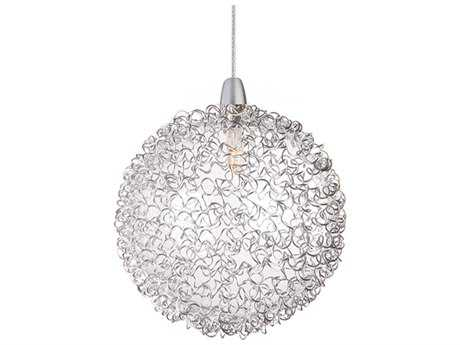 ET2 Starburst Satin Nickel Mini-Pendant with Mesh Glass