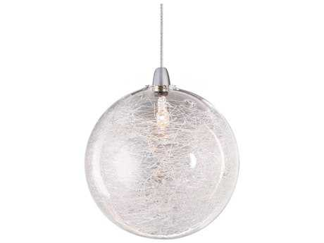 ET2 Starburst Satin Nickel Mini-Pendant with Threaded Glass