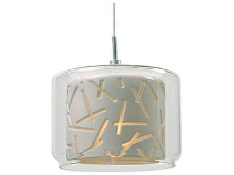 ET2 Confetti Polished Chrome & Clear-White Glass 5.5'' Wide Rapid Jack Mini-Pendant Light