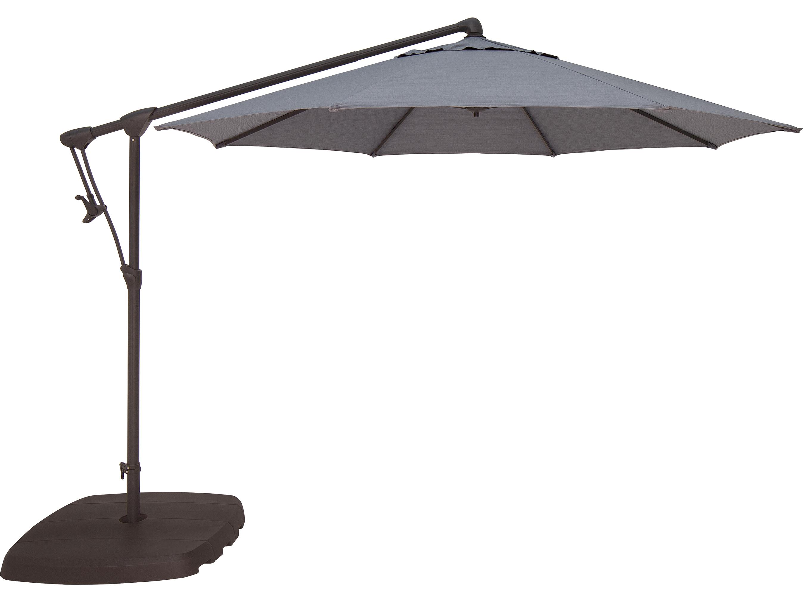 Treasure Garden Cantilever Aluminum 10 39 Octagon Tilt Lock Offset Umbrella Exag19