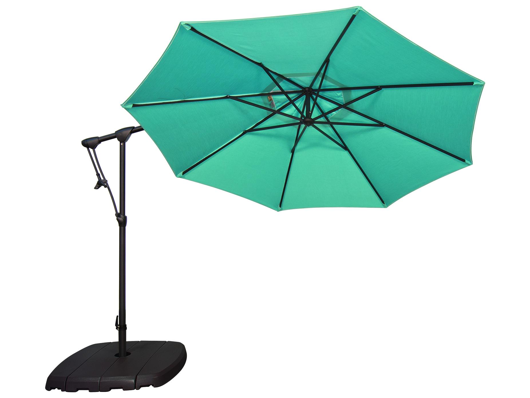 Treasure Garden Cantilever AG19 Aluminum 10' Octagon Tilt & Lock Offset  Umbrella