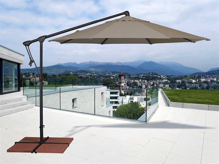 Treasure Garden Cantilever AG19 Aluminum 10' Octagon Tilt & Lock Offset Umbrella PatioLiving