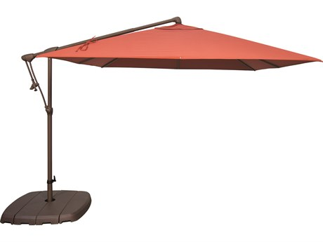 Treasure Garden Cantilever AG19SQ Aluminum 8.5 Foot Wide Square Cantilever Umbrella