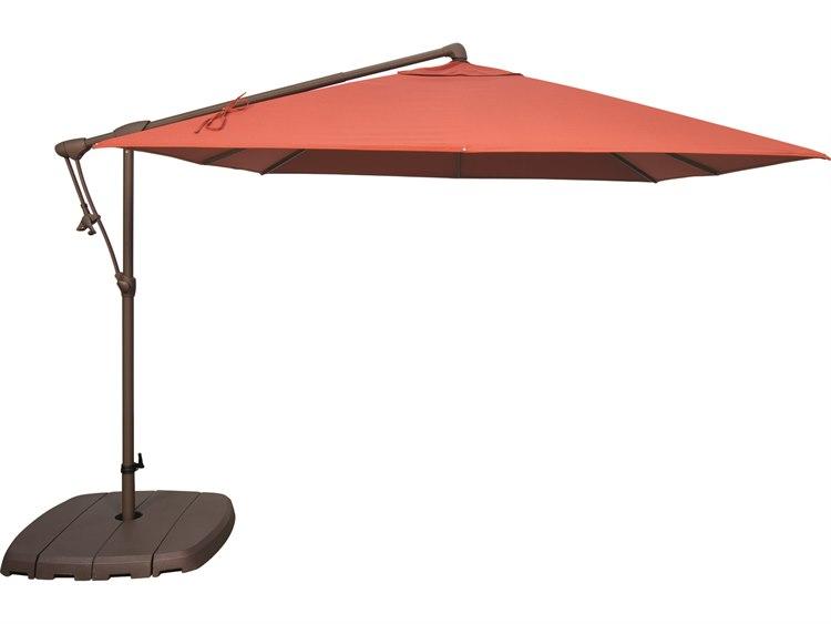 Treasure Garden Cantilever AG19SQ Aluminum 8.5 Foot Wide Square Cantilever Umbrella