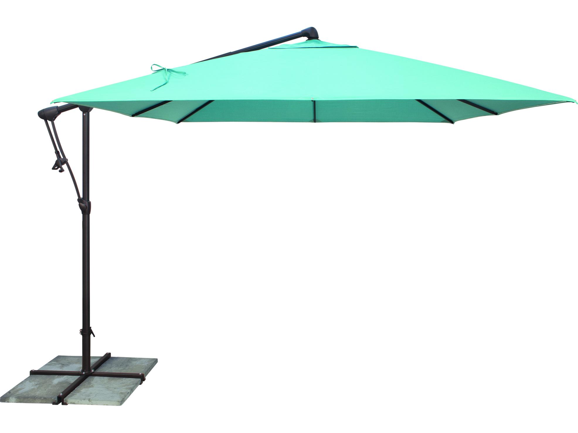 Garden Umbrella Base Wickes: Treasure Garden Cantilever Aluminum 8.5 Foot Wide
