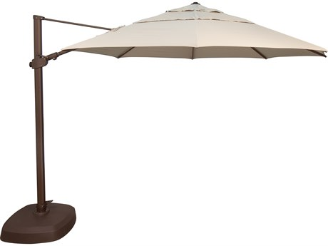 Treasure Garden Cantilever AG25T Aluminum 11.5 Foot Octagon Crank Lift Tilt and Lock Umbrella