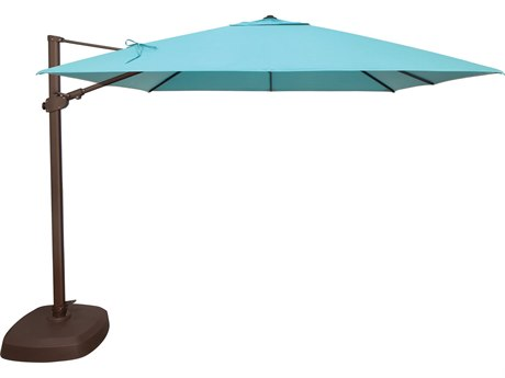 Treasure Garden Cantilever AG25TSQ Aluminum 10 Foot Square Crank Lift Tilt and Lock Umbrella
