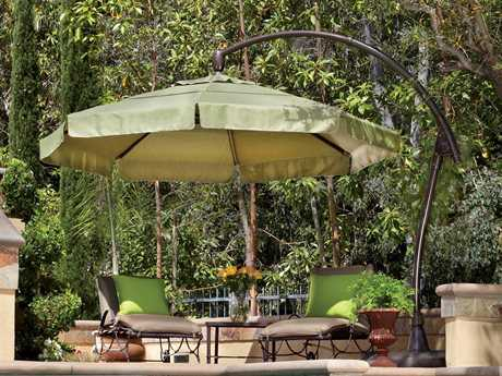 Treasure Garden Cantilever Aluminum 11' Crank Lift and Tilt Umbrella
