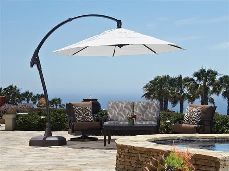 Treasure Garden Cantilever AG28RK Aluminum 11 Foot Octagon Crank Lift Tilt and Lock Umbrella