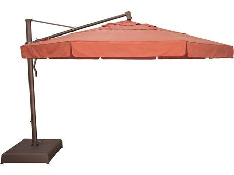 Treasure Garden Cantilever Aluminum 13 Foot Wide Crank Lift Tilt Lock Umbrella Exakz13