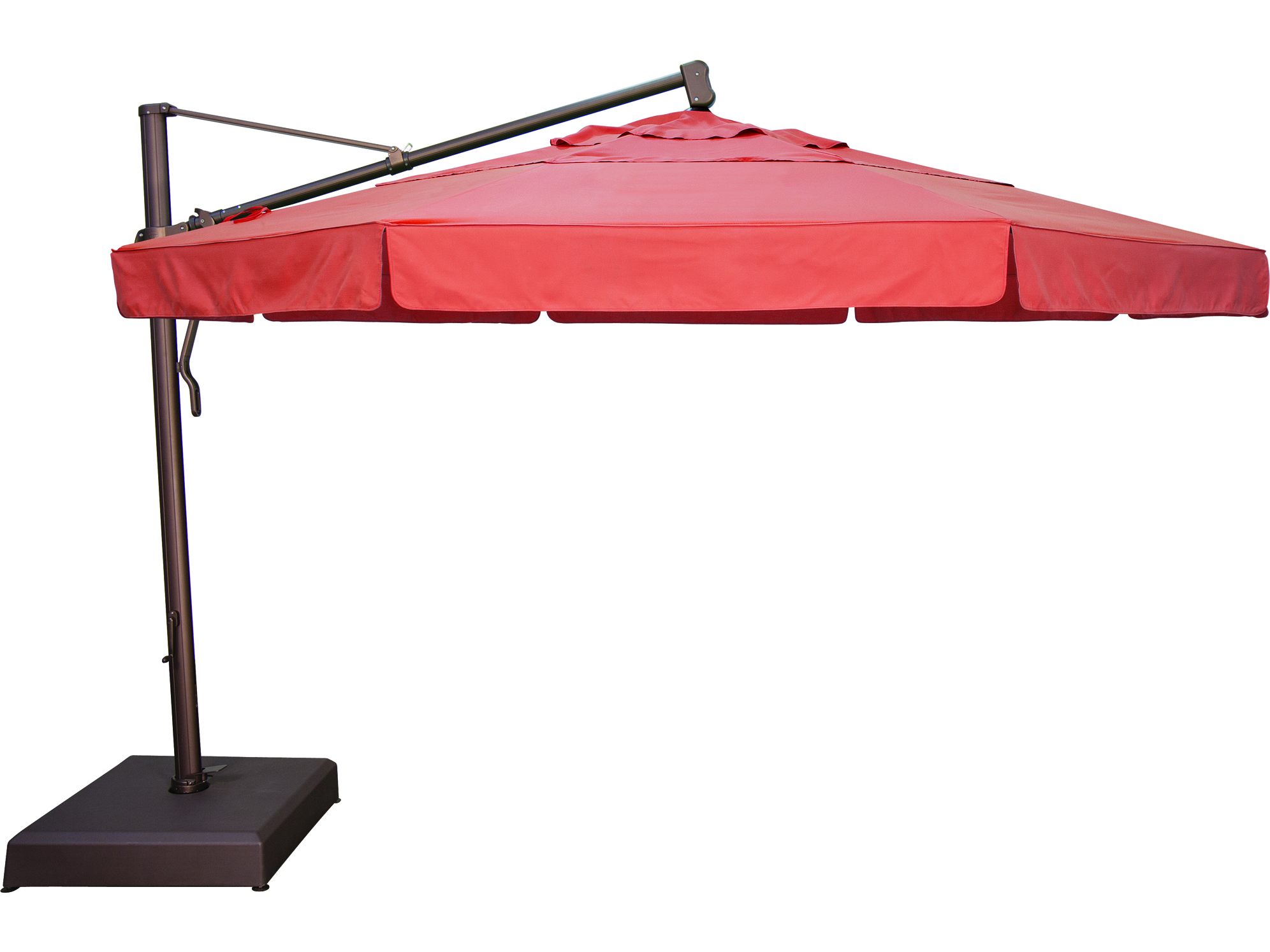 Treasure Garden Cantilever Aluminum 13 Foot Wide Crank