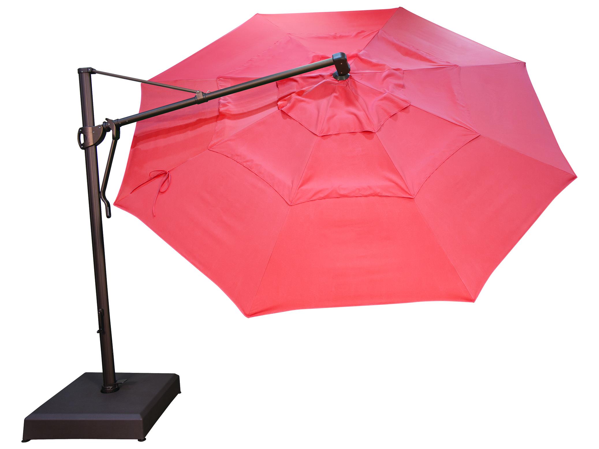 Treasure garden cantilever aluminum 13 foot wide crank for Outdoor patio umbrellas