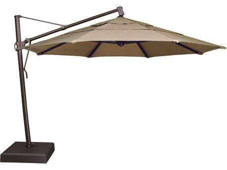 Treasure Garden Quick Ship Cantilever Aluminum 13 Foot Wide Crank Lift Tilt & Lock Umbrella