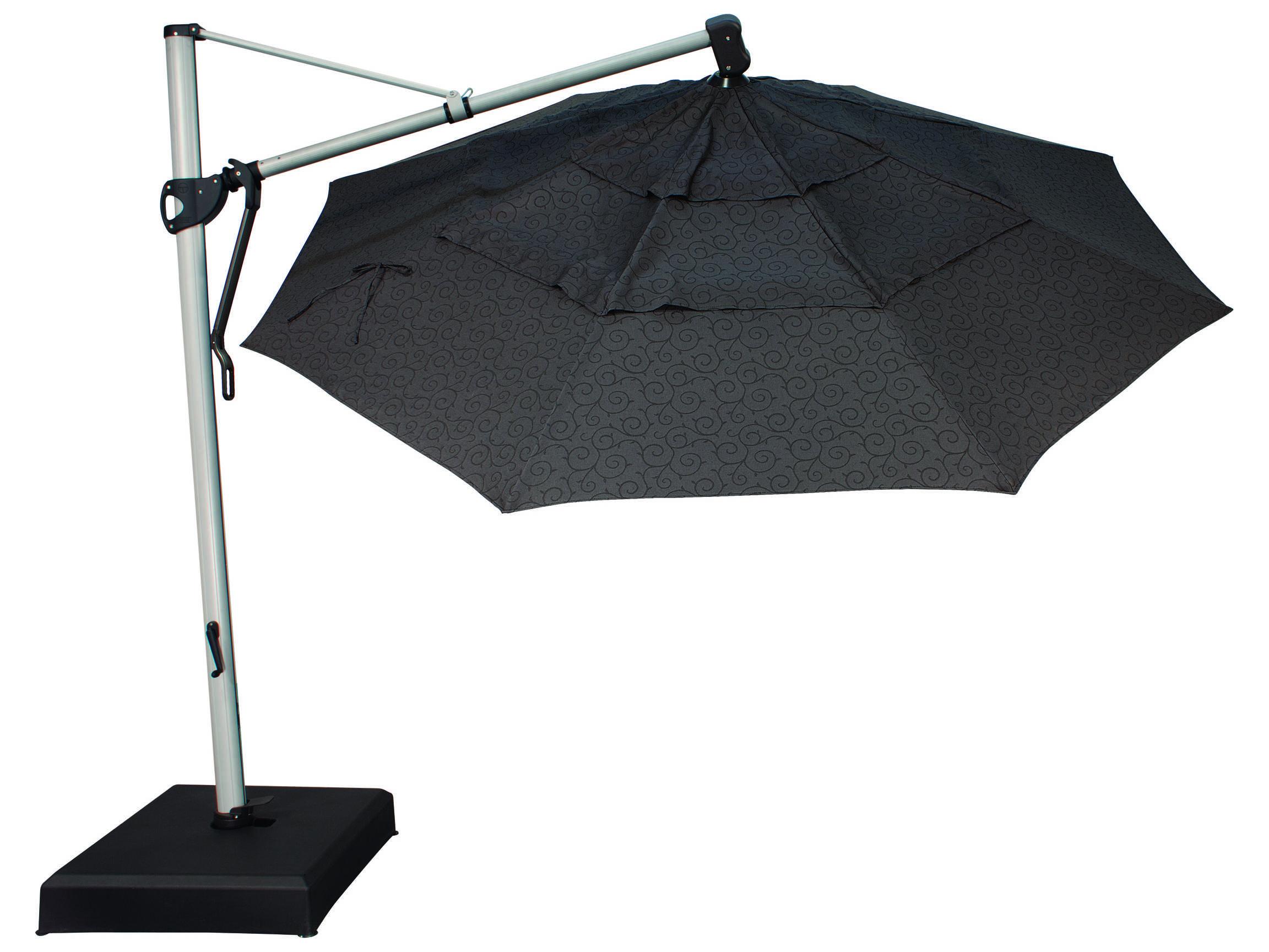 Treasure Garden Cantilever Aluminum 11 39 Foot Wide Crank Lift Tilt Lock Umbrella Exakz