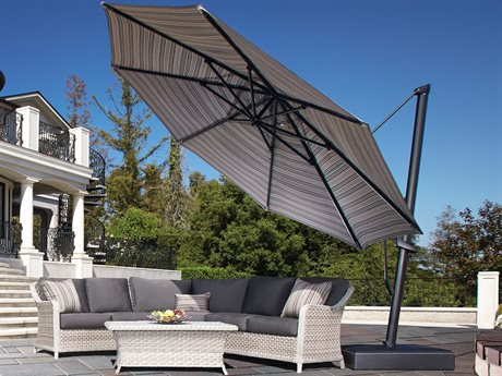Treasure Garden AKZ PLUS 13 Foot Octagon Infinite Tilt and Lock Cantilever PatioLiving