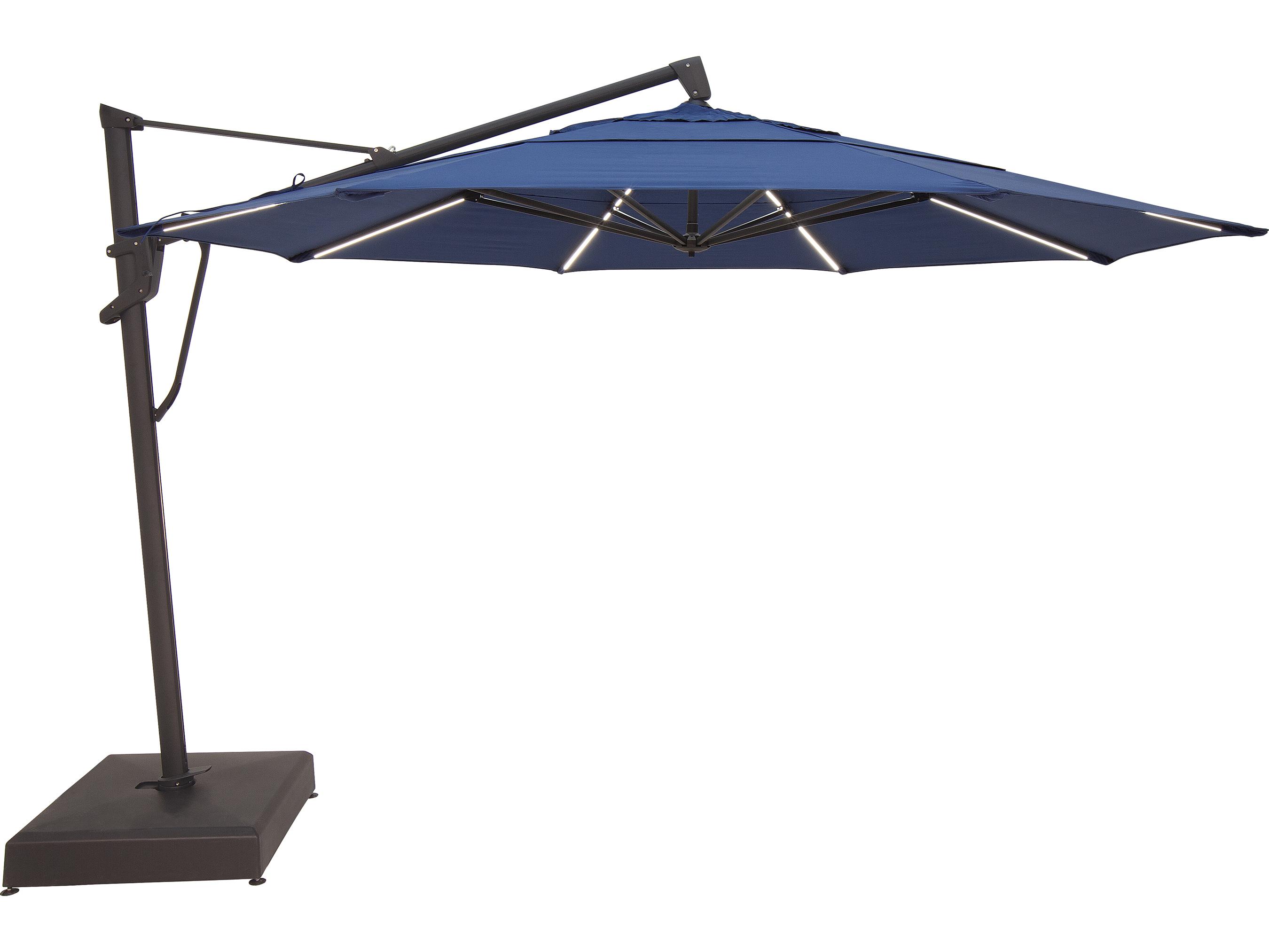 Treasure garden cantilever 13 foot akzplx plus starlux octagon crank lift tilt and lock umbrella for Treasure garden cantilever umbrella 13
