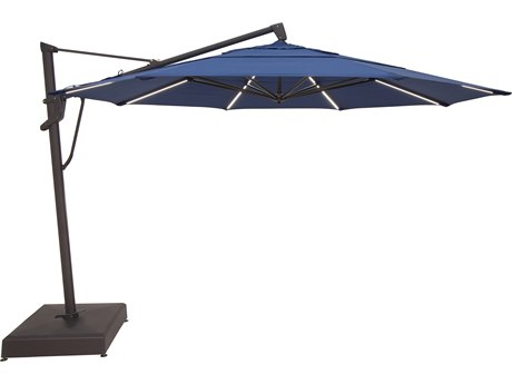 Treasure Garden NonStock Sunbrella  Cantilever 13 Foot AKZPLX Plus Starlux Octagon Crank Lift Tilt and Lock Umbrella
