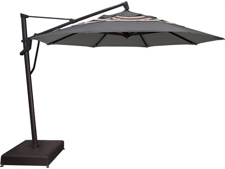 Treasure Garden NonStock Sunbrella  Cantilever AKZP Aluminum 11 Foot Octagon Crank Lift Tilt and Lock Umbrella
