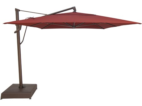 Treasure Garden NonStock Sunbrella  AKZ PLUS 10 x 13 Foot Rectangular Infinite Tilt and Lock Cantilever