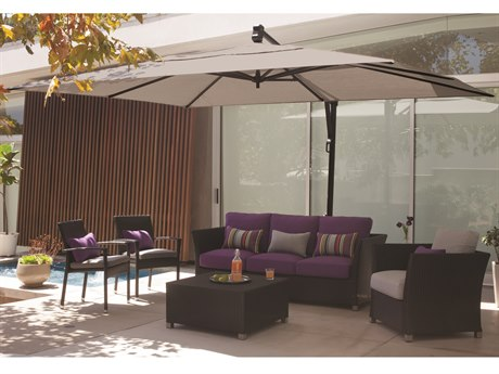 0b8672299bbf6 Treasure Garden Cantilever AKZRT Aluminum 10 x 13 Foot Rectangular Umbrella