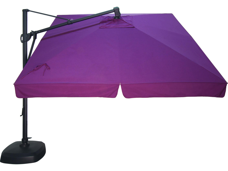 Treasure Garden Cantilever Aluminum 10 Foot Wide Crank Lift Tilt Lock Umbrella Exakzsq