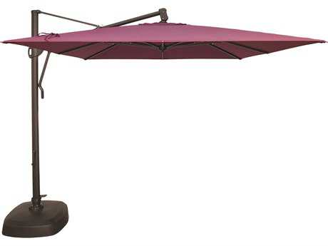 Treasure Garden Quick Ship Cantilever Aluminum 10 Foot Wide Crank Lift Tilt & Lock Umbrella