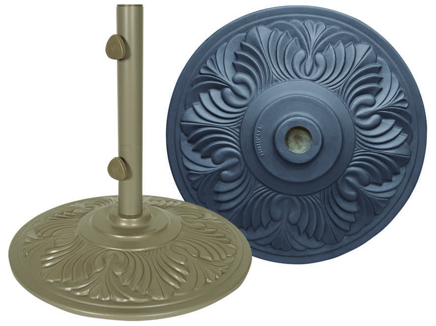 Garden Umbrella Base Wickes: Treasure Garden 50 Pound Cast Aluminum Umbrella Base 20.9