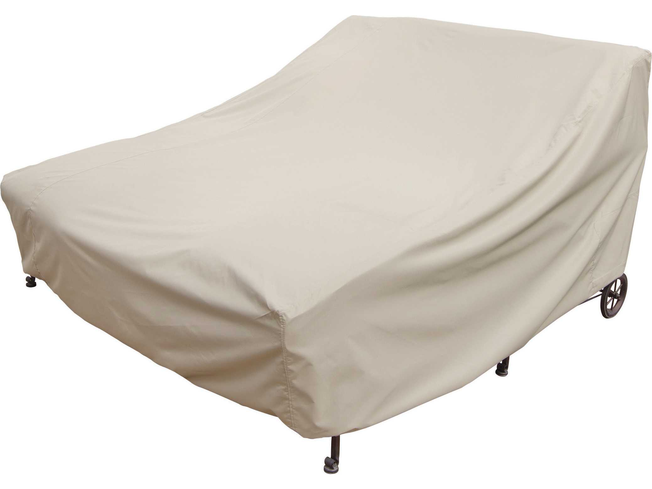 Treasure garden double chaise lounge cover cp141 for Treasure garden patio furniture covers