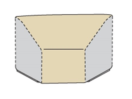 Treasure Garden Modular Wedge (Center) Fits Wedge Corner Sectional W/Elastic & Spring Cinch Lock