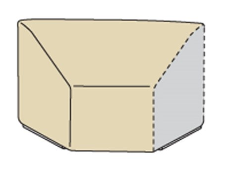 Treasure Garden Modular Wedge Right End (Left Facing) Fits Wedge End Sectional W/Elastic & Spring Cinch Lock