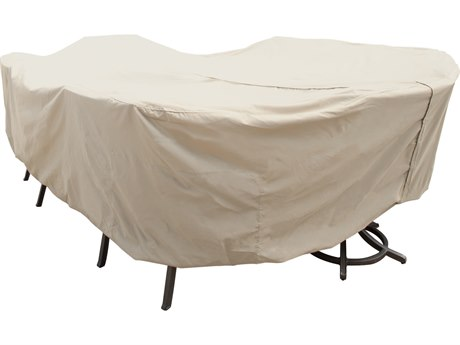 Treasure Garden X-Large Oval/Rectangle Table & Chairs Cover with Umbrella Hole