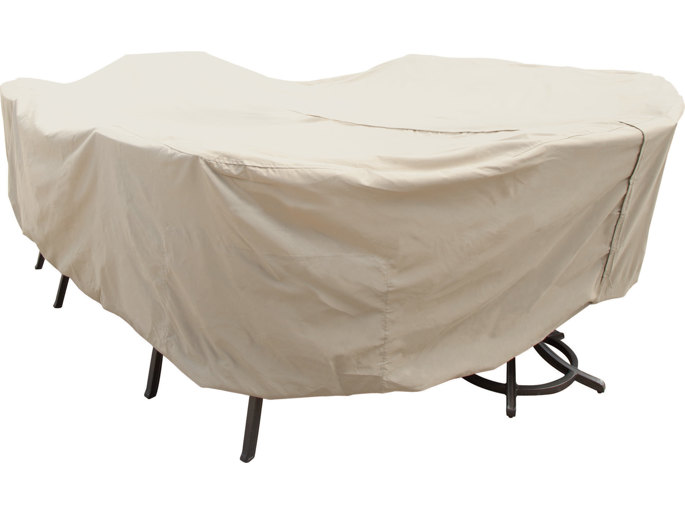 Rectangular patio furniture covers Waterproof Hover To Zoom Patioliving Treasure Garden Xlarge Ovalrectangle Table Chairs Cover With