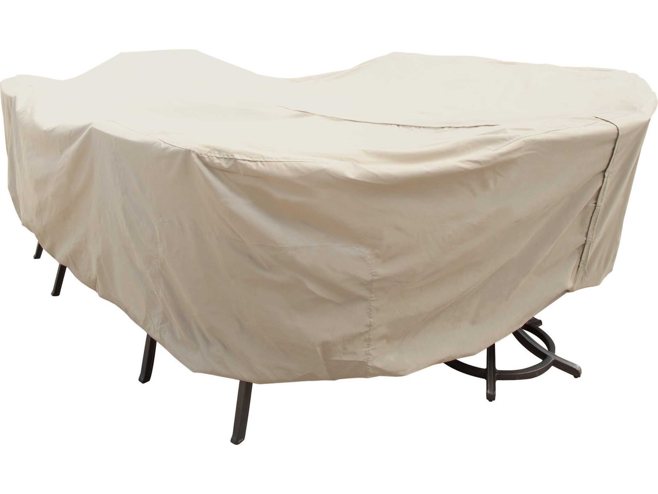 Treasure Garden X Oval Rectangle Table & Chairs Cover with Umbrella