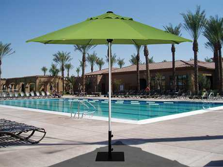Treasure Garden Commercial Aluminum 9' Octagon Push Up Lift Vented Umbrella