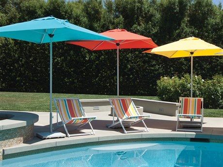 Treasure Garden Commercial Aluminum 7' Square Push Up Lift Umbrella PatioLiving