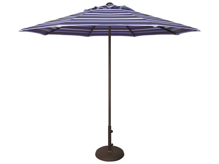 Treasure Garden NonStock Sunbrella  Commercial Aluminum 9' Octagon Push Up Lift Vented Umbrella PatioLiving