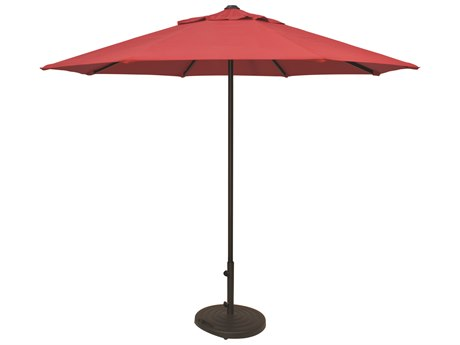 Treasure Garden NonStock Sunbrella  Commercial Aluminum 9' Octagon Push Up Lift Vented Umbrella