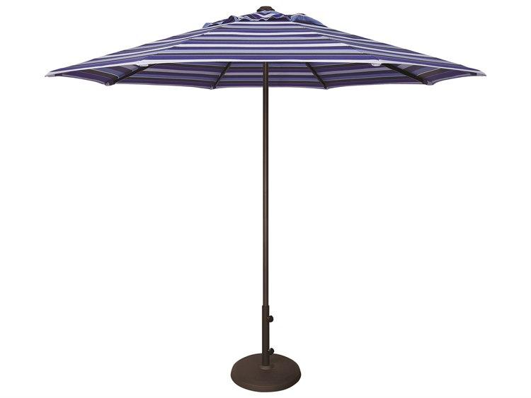 Treasure Garden Quick Ship  Commercial Aluminum 9' Octagon Push Up Lift Vented Umbrella PatioLiving