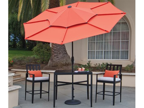 Treasure Garden Lotus 10 Foot Crank Lift Collar Tilt Octagon Umbrella