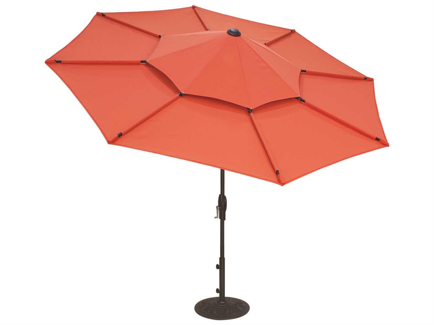Treasure Garden Lotus 10 Foot Crank Lift Collar Tilt Octagon Umbrella Ula489