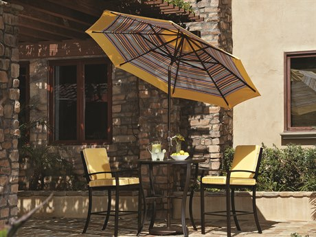Treasure Garden Market Aluminum 9' Octagon Collar Tilt Crank Lift Umbrella PatioLiving