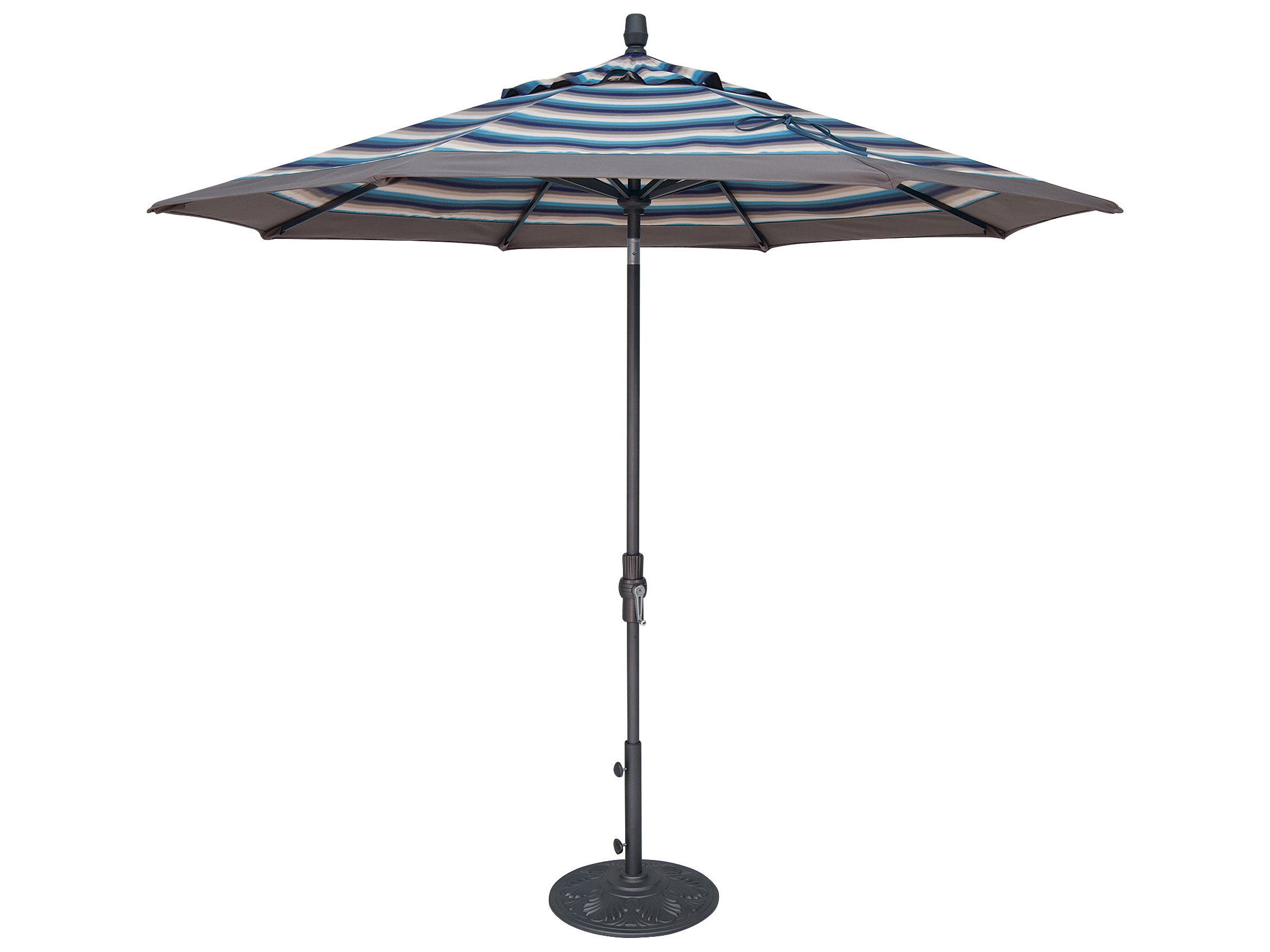 treasure garden market aluminum 9 octagon collar tilt crank lift umbrella - Treasure Garden Umbrella