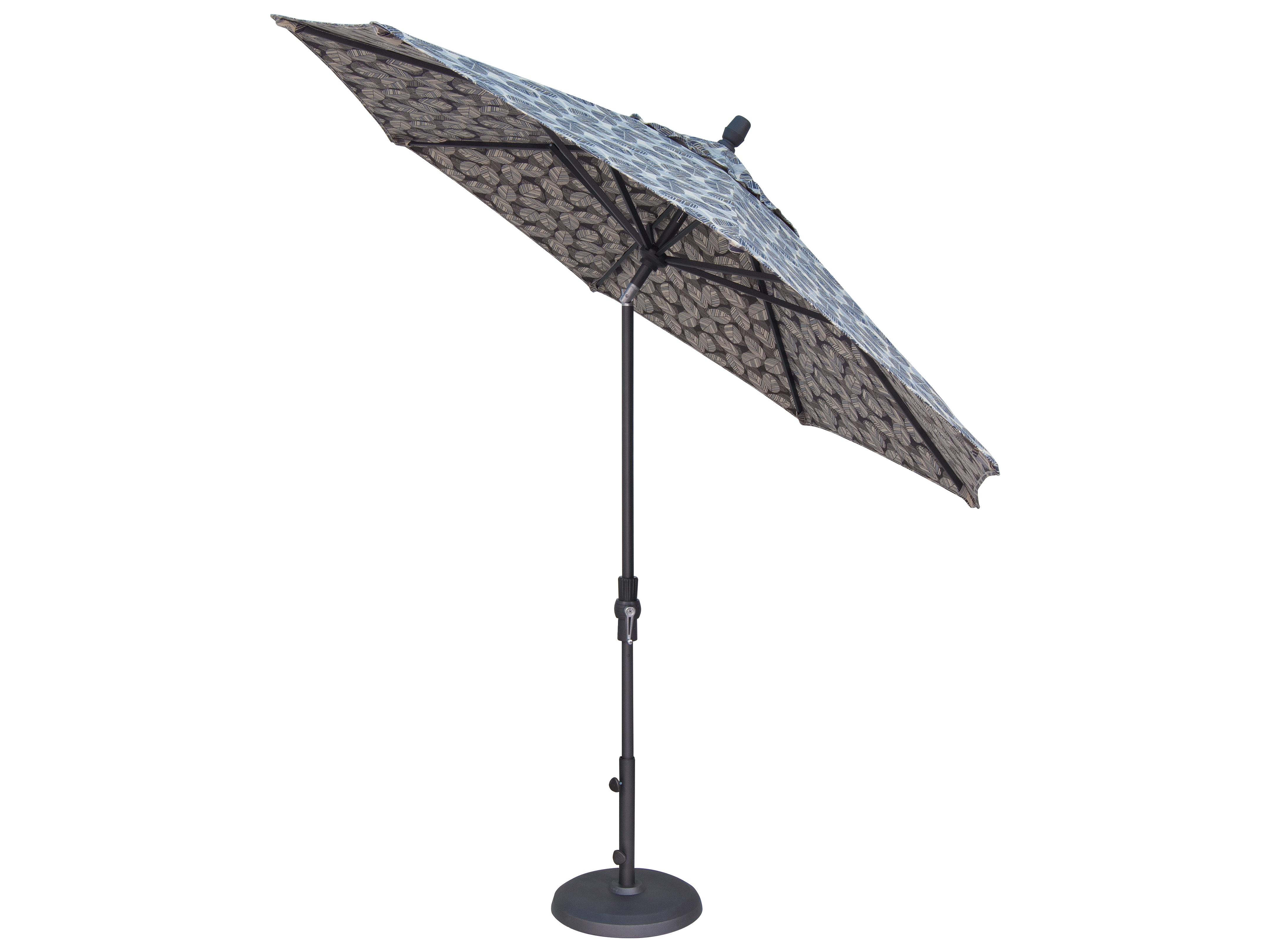 Treasure Garden Market Aluminum 9 39 Octagon Collar Tilt Crank Lift Umbrella Um800