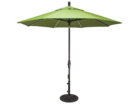 Treasure Garden QuickShip 9' Starlux Octagon Crank Lift Collar Tilt Umbrella