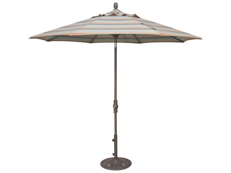 Treasure Garden NonStock Sunbrella Market Aluminum 9' Octagon Collar Tilt Crank Lift Umbrella PatioLiving