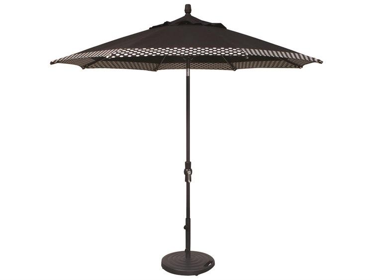 Treasure Garden Market Aluminum 9' Octagon Collar Tilt Crank Lift Umbrella PatioLiving