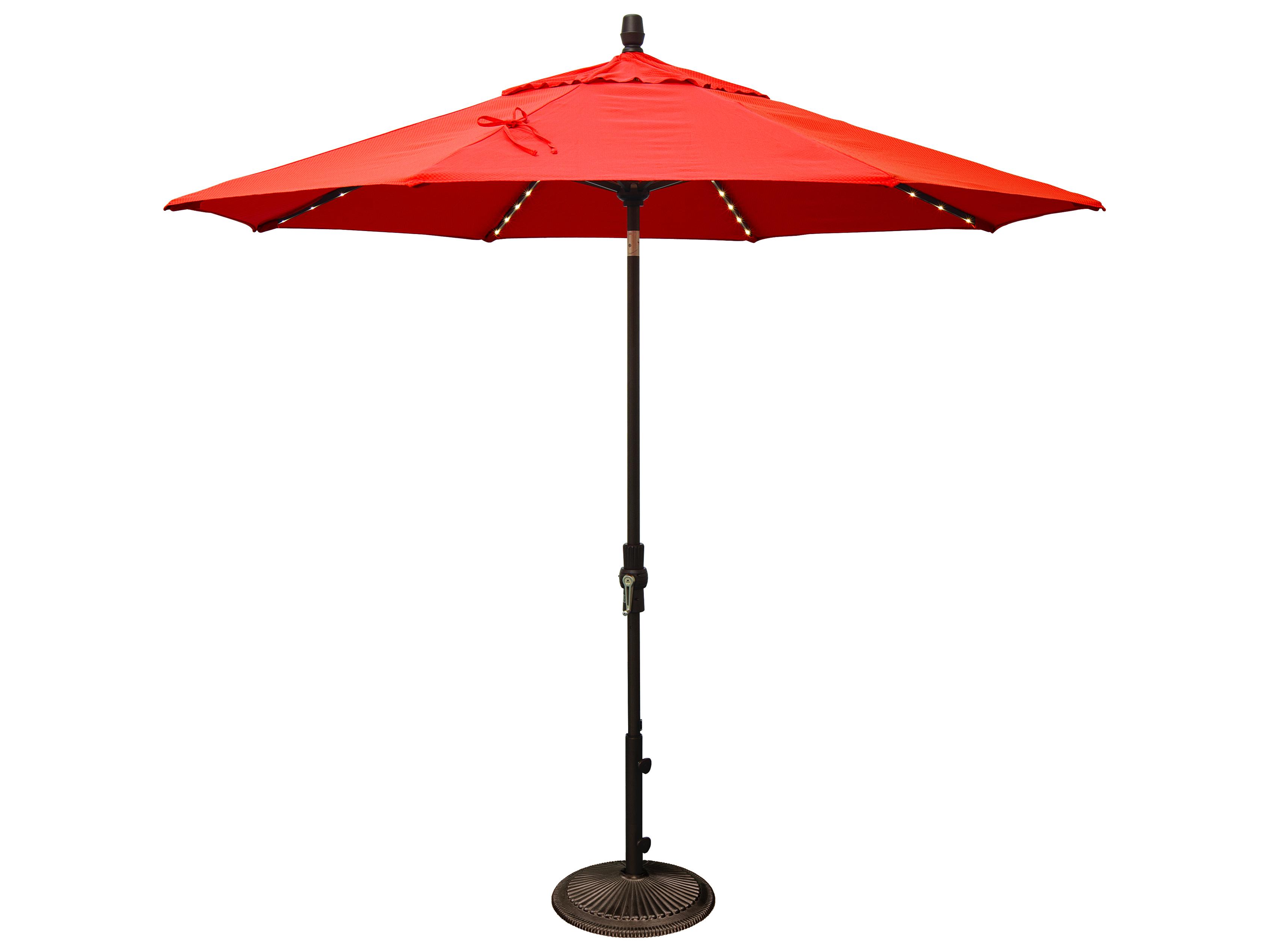 Treasure Garden Market Aluminum 9 Foot Collar Tilt Crank Lift Starlight Umbrella Exum800sl