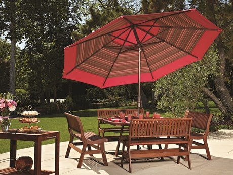 Treasure Garden Market Aluminum 11' Octagon Collar Tilt Crank Lift Umbrella PatioLiving