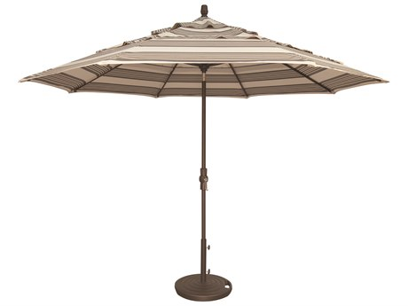 Treasure Garden NonStock Sunbrella  Market Aluminum 11' Octagon Collar Tilt Crank Lift Umbrella